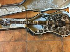 Aria Pro II Snakeskin Super Stratocaster Electric Guitar w/ Case Uber Rare