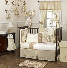 coCalo Baby Bedding Crib Cot Bumpers Sheet Curtain Set 5 Piece Caramel Kisses