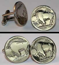 Vintage BISON BUFFALO NICKEL Coin USA New Cufflinks