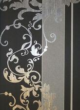 Me stesso carta da parati non tessuta Ornamento nero grigio 6858-15 Mica pro m ²