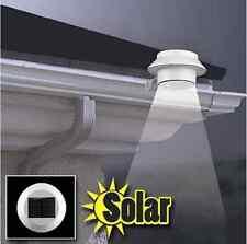 Solar Sun 3 LED Power Gutter Fence Door Wall Lights Outdoor Garden Ligh white