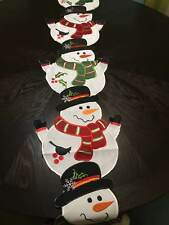 Holiday Winter Snowman Table Linens Runner