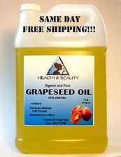 GRAPESEED OIL by H&B Oils Center ORGANIC COLD PRESSED 100% PURE 7 LB, 1 gal