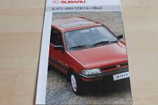 113059) Subaru Justy 1000 + 1200 GLi 4WD Prospekt 02/1991