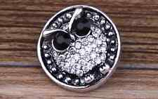3D Rhinestone Drill Snaps Chunk Charm Button Fit For  Leather Bracelets QT2