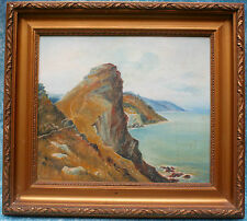 Original Oil Painting on Canvas Valley of the Rocks Lynton Devon Coastal Scene