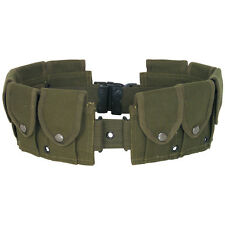 GI style 10 Pocket Canvas Cartridge Batman Costume Utility Belt - OLIVE OD GREEN