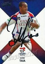 ✺Signed✺ 2011 NEWCASTLE KNIGHTS NRL Card ZEB TAIA