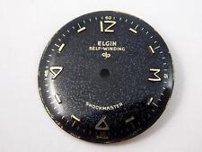 Elgin Selfwinding Shockmaster Black 25.84mm Watch Dial Vintage Mens New Old Stck