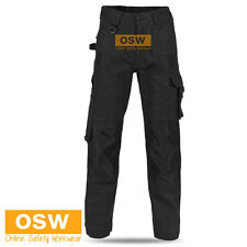 MENS AIR FLOW WORK TROUSERS TRADIE BUILDER COTTON CARGO PANTS POCKETS