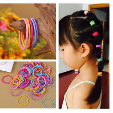 Wholesale 100pcs Women Hair Ties Colorful Elastic Rope Ponytail Holder Head Band