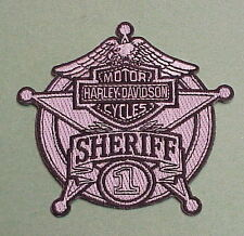 HARLEY DAVIDSON  MOTOR CYCLES #1 SHERIFF /  POLICE PATCH   FREE SHIPPING IN U.S.