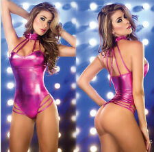 Details about  New Hot Sexy Lady Women Cocktail Party patent leather Mini cloth