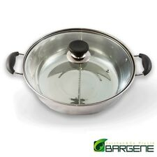 28cm Stainless Steel Twin Hot Pot With Lid - For Induction/Gas/Electrical Stove