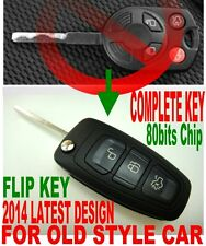 EURO STYLE ALin1 FLIP KEY REMOTE FOR 2012-2016 FORD FOCUS CHIP KEYLESS ENTRY FOB