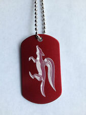 Star Fox Red Aluminum Dog Tag Necklace video game handmade