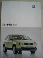 VW Polo Fun brochure Oct 2003 German text + price list