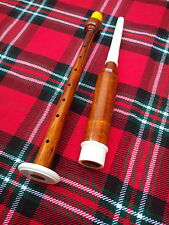 SCOTTISH GREAT HIGHLAND BAGPIPE PRACTICE CHANTER ROSEWOOD SILVER COLOR +2 REED