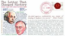 "COVERSCAPE computer designed 75th anniversary ""Einstein's Letter to FDR"" cover"