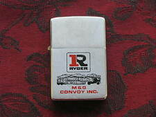 Zippo Lighter 1979 Advertising Ryder M&G Convoy, Excellent