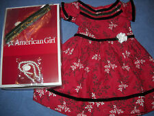 "American Girl 18"" Doll CECILE'S Special Summer Red Dress & Bows NEW in Box"