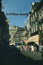 KODACHROME 35mm Slide Holland Haarlem Street Scene People Shopping Church 1954!