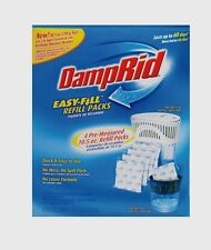 New! DAMPRID Moisture Absorber 4-10.5 oz. EZ Fill Refill Packs Dehumidifies FG92