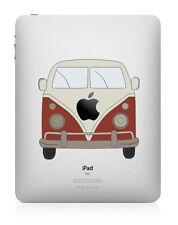 Adesivo Decalcomania iPad FURGONE VOLKSWAGEN a colori arte Cover per Apple Tablet