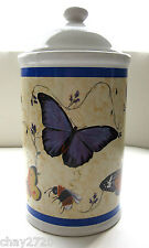 KITCHEN CANISTER FROM B.I. CERAMIC PORCELAIN BUTTERFLY DESIGN