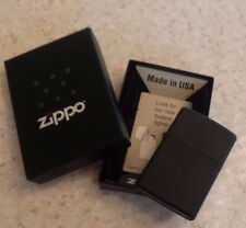 Zippo Vintage Matte Black Lighter BOX Cigarette USA 236 BLACK CRACKLE Refillable