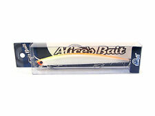 "NEW LONG JERK ""ALICE'S BAIT"" MINNOW 140 SLIM SINKING COLOR: WHITE ORANGE"