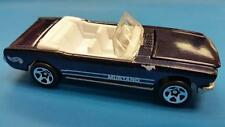 RARE 1965 '65 FORD MUSTANG CONVERTIBLE * BLUE w WHITE SEATS 1997 HOT WHEELS OPEN