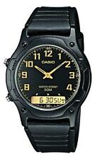 Casio classic combination watch AW-49H-1BV black with resin strap combi
