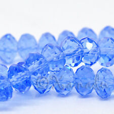 Sapphire Blue Faceted Wholesale Round Rondelle Crystal Beads 8x6mm - G1652