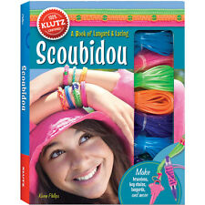 SCOUBIDOU - A BOX OF LANYARD & LACING FUN KIDS KLUTZ CRAFT BOOK & ACTIVITY KIT