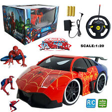 MARVEL ULTIMATE SPIDER-MAN HERO ELECTRIC RC RADIO REMOTE CONTROL CAR KID BOY TOY