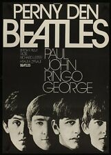 A HARD DAY'S NIGHT THE BEATLES CZECH A1 movie poster R78. NEAR MINT