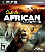 CABELAS AFRICAN ADVENTURES PS3! HUNT, HUNTING, RHINO, LION, BUFFALO, SAFARI