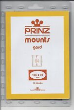 Package of 10 Prinz CLEAR Mounts 165 x 94