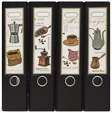 Design Ordner-Rückenschilder zum Einstecken breit - Motiv Espresso bar - IC-027