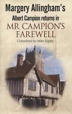 Margery Allingham's Mr Campion's Farewell: The return of Albert Campion complete