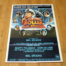 L'ULTIMA FOLLIA DI MEL BROOKS manifesto poster Silent Movie Marty Feldman Caesar