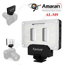 Aputure Amaran Portable LED AL-M9 Video Fill Lights CR95+ for Canon Nikon Camera