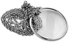 FLORAL MAGNIFYING GLASS PENDANT ON CHAIN STERLING SILVER 925  FROM ARI D NORMAN