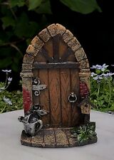 Miniature Dollhouse FAIRY GARDEN Gnome ~ Mini Door with Watering Can ~ NEW