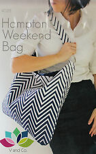 PATTERN - Hampton Weekend bag - simple and stylish bag PATTERN - V and Co