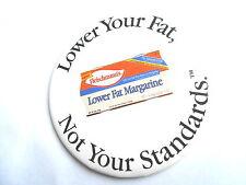 Vintage Fleischmann's Lower Fat Margarine Butter Substitute Advertising Pinback