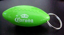 CORONA BEER GREEN PLASTIC FOOTBALL BOTTLE OPENER/ KEY RING
