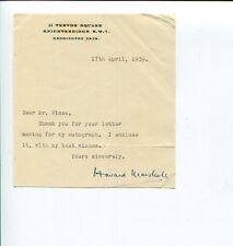 Howard Marshall 1930s BBC Radio Host Cricket Signed Autograph TSL