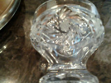ACC Crystal Candy Dish From Poland.  Star of David Pattern